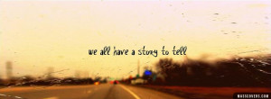 We all have a story to tell - FB Cover