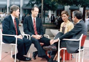... , Bill Bradley, Tony Coelho interviewed by Jane Pauley on Today Show