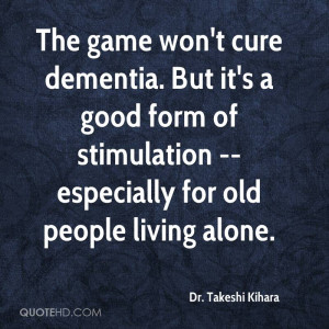 The game won't cure dementia. But it's a good form of stimulation ...