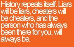 History repeats itself. Liars will be liars, cheaters will be cheaters ...