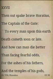Horatius, Lays of Ancient Rome by Thomas Babington Macaulay
