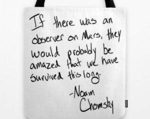 Tote Bag - Noam Chomsky Quote