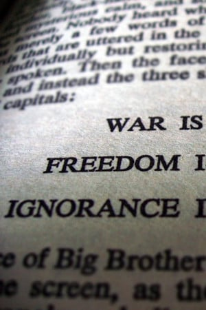 640x960 war freedom text quotes peace 1984 typography george orwell ...