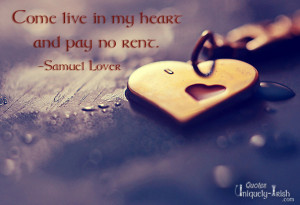 Come live in my Heart and pay No rent""