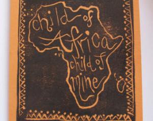 ... envelope original quote Kwanzaa Black History Month African adoption