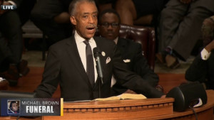 ... in ferguson missouri the rev al sharpton brought a shining light on