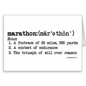 Marathon Definition Best Of Luck Greeting Card
