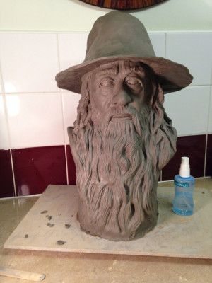 Gandalf Quotes A Wizard Is Never Late Clay sculpture of gandalf the