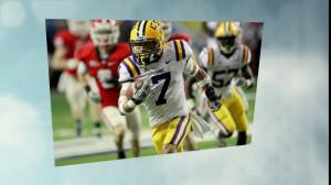 Cheap replica NCAA FootBall Jersey LSU Tigers #7 Honey Badger Home ...