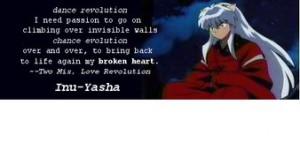 Inuyasha Quote Photo
