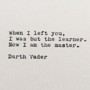 Star Wars Quotes Darth Vader Star wars darth vader quote