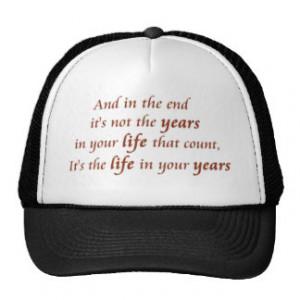 Inspirational quote unique hat retail product line