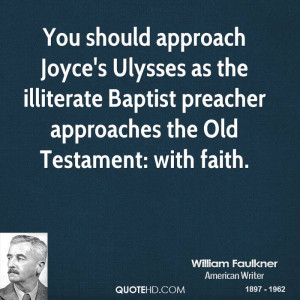 ... illiterate Baptist preacher approaches the Old Testament: with faith