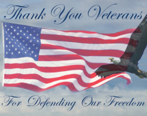 Thank you Veterans for defending our freedom