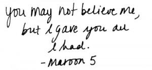 Maroon 5   via Tumblr