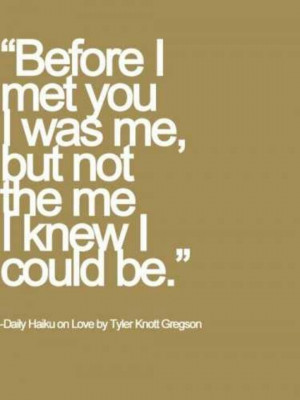 before i met you.
