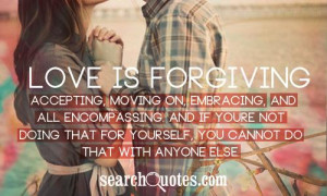 Forgiving Yourself Moving On Quotes