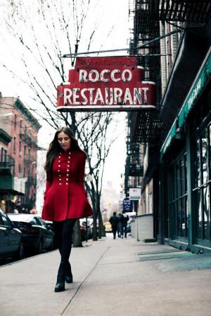 Vintage Ralph Lauren coat, Balenciaga boots.
