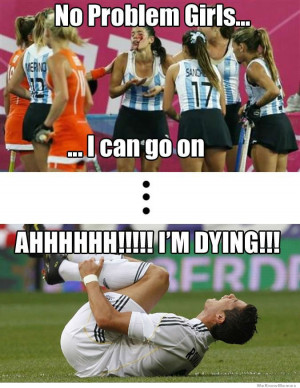 ... vs Women athletes – No problem girls I can go on… Ahh I'm dying