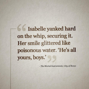 Posted in: fan art , mortal instruments , quotes