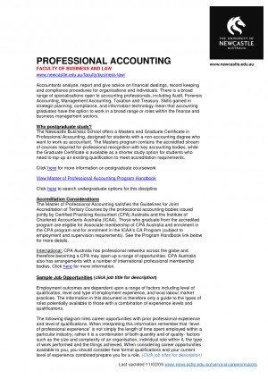 Related to Accounting Certification Professional Accounting