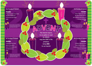 new advent faith mat placemat with this advent placemat your child can ...