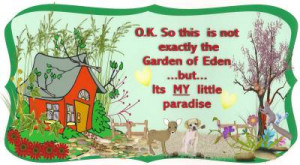 Have you got more garden related sayings painted on rustic garden ...
