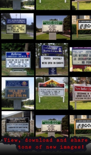 Church Signs – Funny inspirational quotes, jokes, phrases & messages ...
