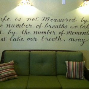 Love quotes painted on walls