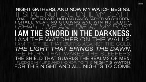 The Night's Watch oath wallpaper 1920x1080