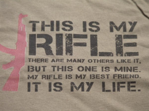 ... Shirt Inspired By Full Metal Jacket T-Shirt -This is My Rifle Quote