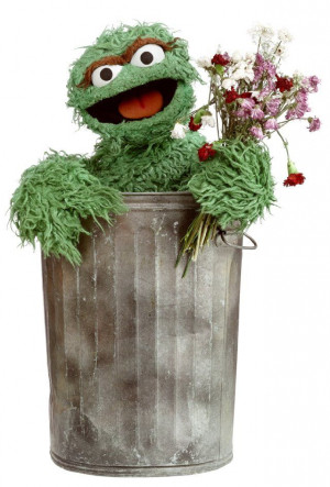 Oscar the Grouch holding withered flowers. Grouch Jennings, Grouch ...