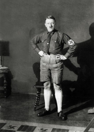 Funny Portraits of Hitler in Shorts in The Late 1920s
