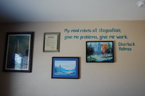 The full quote on the wall