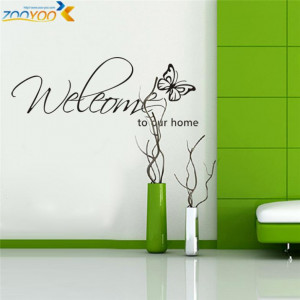 welcome to our home quote wall decals zooyoo8181 decorative adesivo de ...
