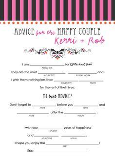 Wedding Advice Coasters - wish for the newlyweds, weddings, coasters ...