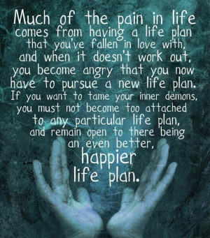 life and plans change... and it's ok