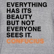 ... HAS ITS BEAUTY BUT NOT EVERYONE SEES IT CONFUCIUS quote T-Shirts