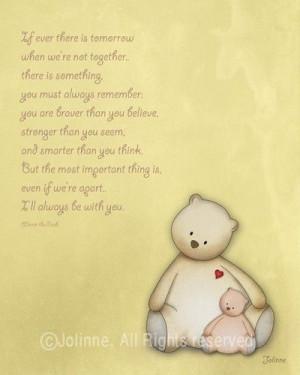 Emotional quote Teddy bears nursery wall art print kids by jolinne, $ ...