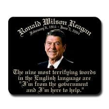 Reagan 9 Terrifying Words Mousepad for