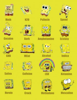Funny Quotes: Spongebob On Different Drugs Funny Quotes