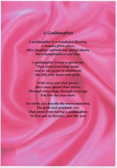 Godchild Poem, Poems For Godchild