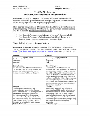 to kill a mockingbird quotes with page numbers calpurnia