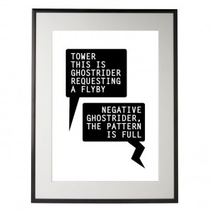 Top Gun inspired Print - Tom Cruise - Negative Ghostrider Quote - A4 ...
