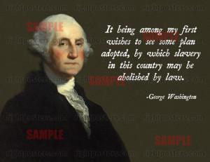 George Washington Slavery Poster