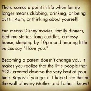 Being a parent...