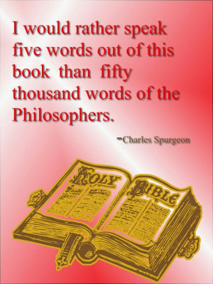 would rather speak five words out of this book than fifty thousand ...