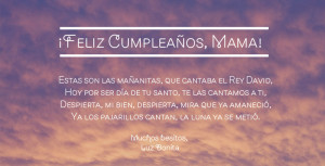 Happy Birthday Mom Quotes In Spanish Happy birthday song in spanish