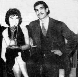 Fereydoun Farrokhzad with Forough Farrokhzad
