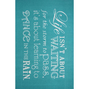 Rugs - Modern - Quotes Rug Rain Turquoise 150cm x 100cm photo 2